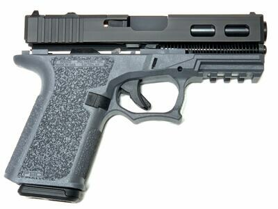 Patriot G23 S&W 40 - RMR Windowed Slide 80% Pistol Build Kit - Polymer80 PF940C - BLACK / GRAY