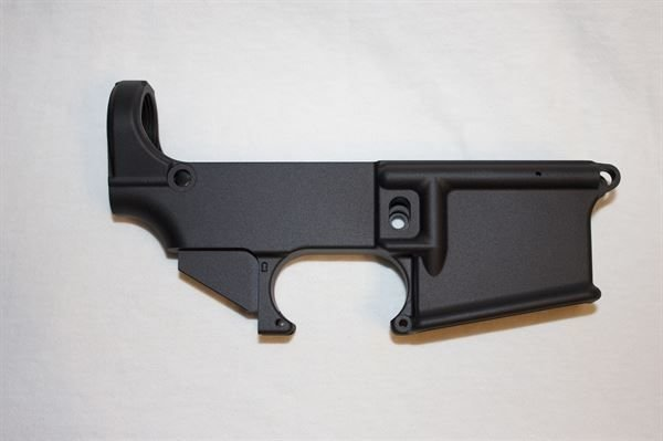 AR-15 80% Lower Receiver - Black Anodized Forged 5.56/.223