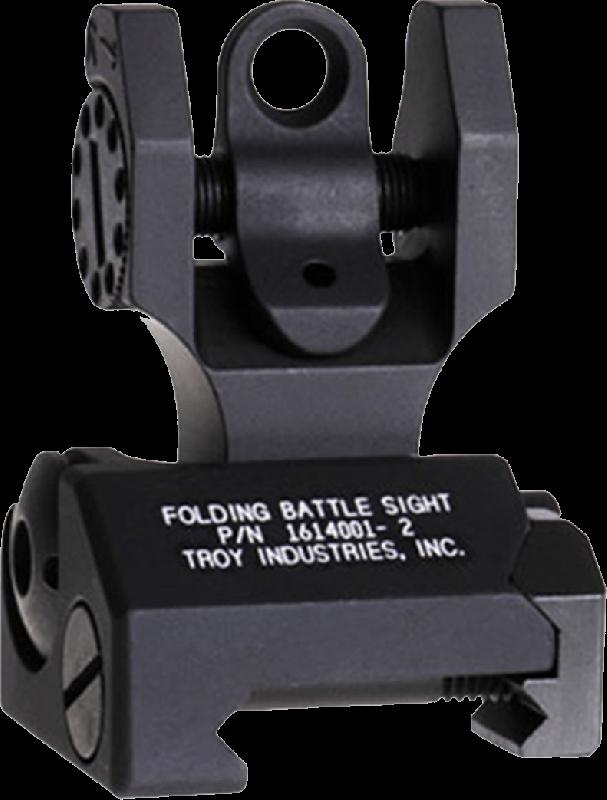 Troy Folding Rear Tritium Sight - Black