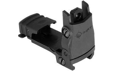 MFT Rear Back Up Flip Up Polymer Sight w/ Windage Adjustment - Black