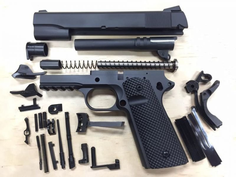 1911 Caliber 40 S&W Tactical 80% Build Kit - Black