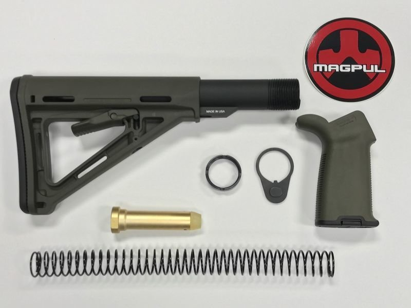 AR-15 Magpul Moe Stock Kit & Moe Plus OD Green Grip -  OD Green