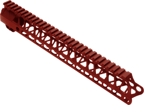 """Enforcer 13"""" Hand Guard E13 - Red Anodized"""