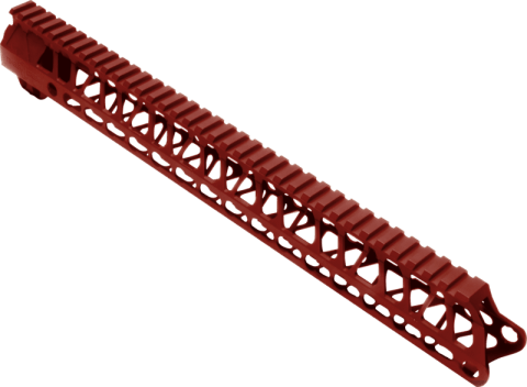 """Enforcer - 15"""" Hand Guard - E15 HG - Red Anodized"""