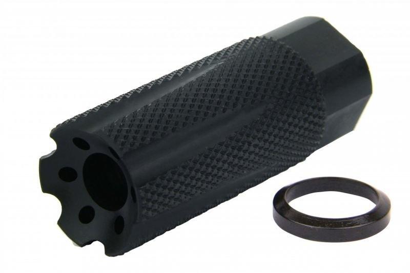 "NURLON 9mm 1/2x36"" TPI MUZZLE BRAKE BLACK NITRIDE"