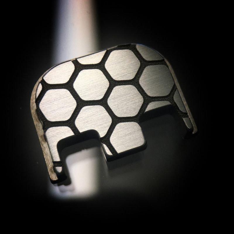 Honeycomb - Titanium Back Plate