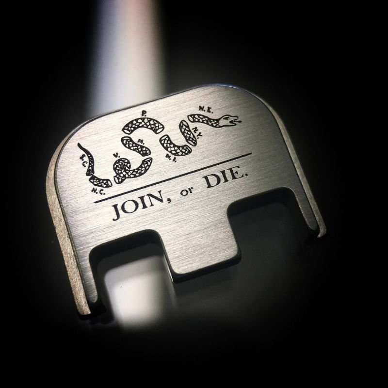 Join or Die - Titanium Back Plate
