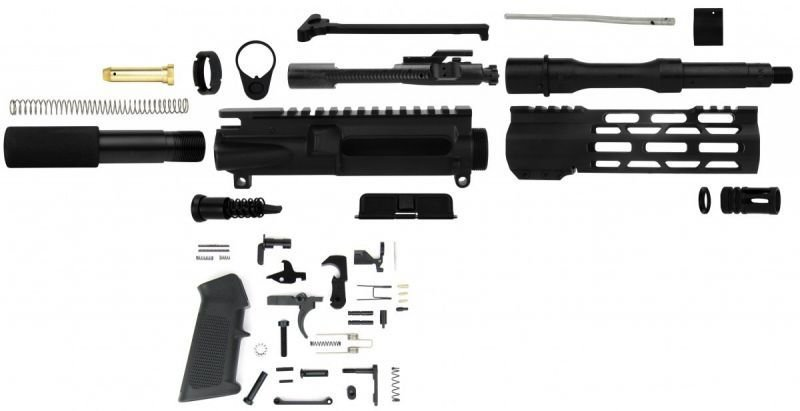 "Unassembled AR-15 Pistol Kit - 300 Black-Out NATO 7.5"" Barrel With Lower Parts Kit"