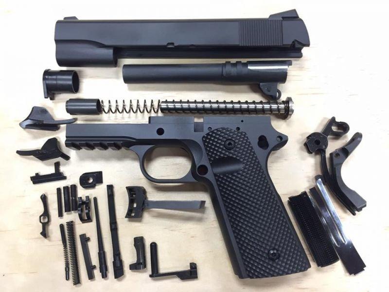 1911 Tactical 80% Builders Kit Black Choose Your Caliber