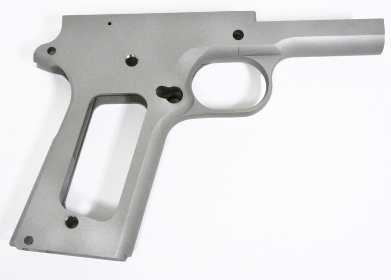 1911 80% Full Size Government Frame - 416R Stainless Steel - Smooth Grip For Non Ramped Barrels