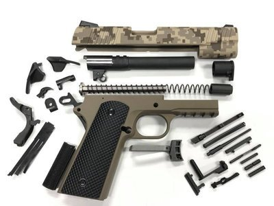 1911 Tactical 80% Builders Kit - Choose Your Caliber - Marine Corps Digital Camo