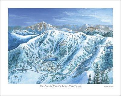 Bear Valley Village Bowl Art Poster