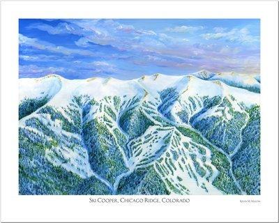 Ski Cooper Chicago Ridge Art Poster