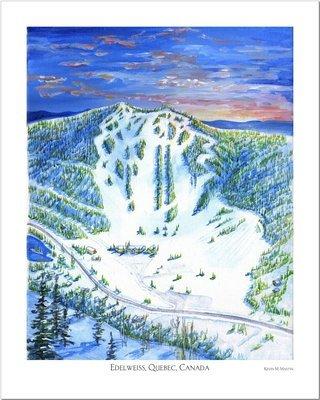 Edelweiss Quebec Art Poster