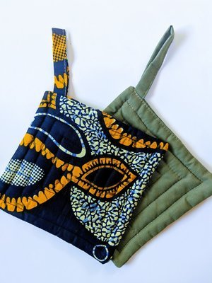 Modern African Fabric Pot Holders