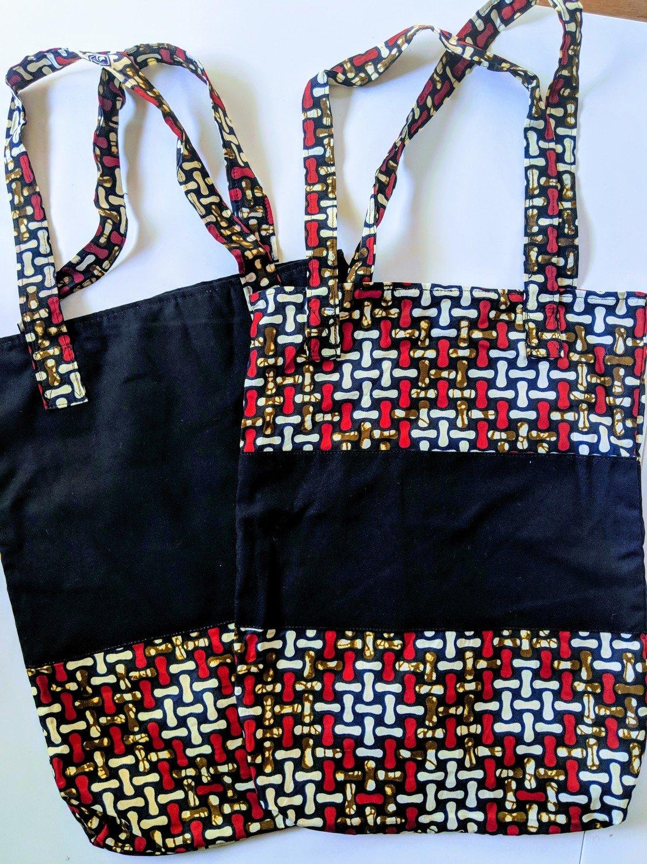 African Print Tote Bag