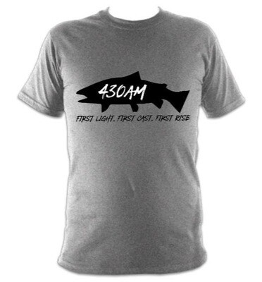 430AM TROUT TEE (Overcast Grey)