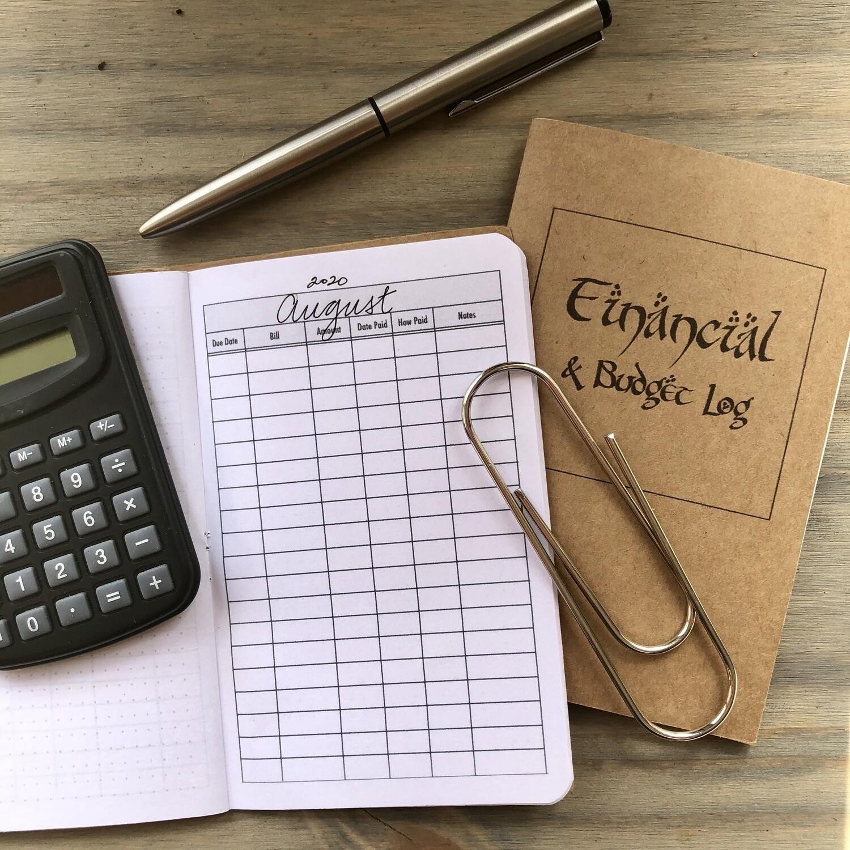 FINANCIAL and Budget Log