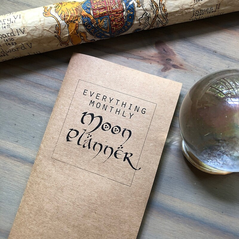 Everything Monthly Moon Planner w/ Kraft Cover (July)