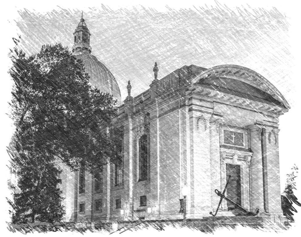 Naval Academy Chapel Sketch