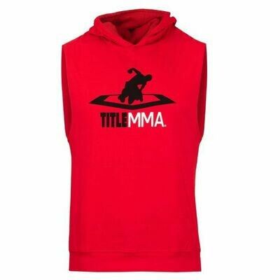 TITLE MMA Ripped Muscle Sleeveless Hoody Tee