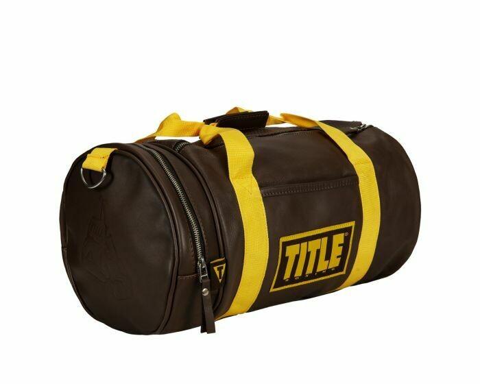 TITLE Boxing Vintage Leather Gear Bag