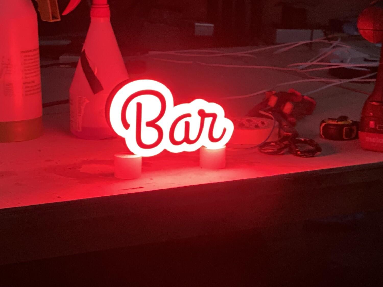 12v or 24v Illuminated Bar Sign