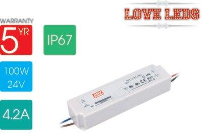 Meanwell LPV-100-24 100w 24v IP67