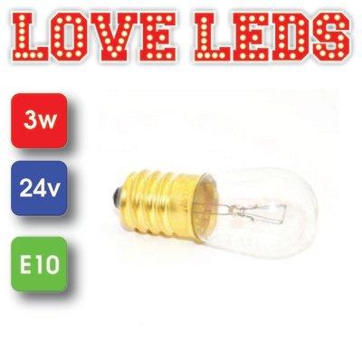 INCANDESCENT lamp E10