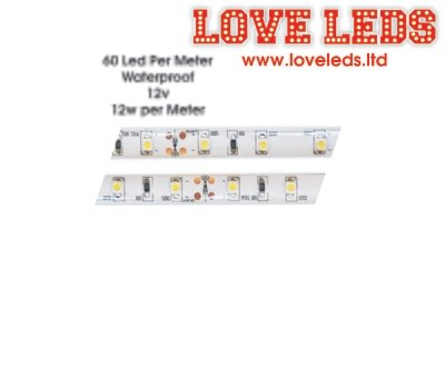Flex 2835 60 Leds/M 6500k White 12w WATERPROOF