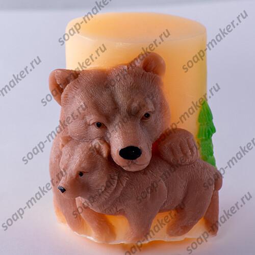 """Свеча """"Мишки"""" 3D"""