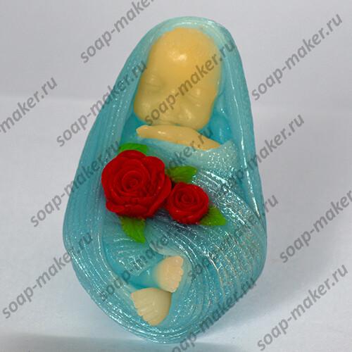 Малыш с розами 3D