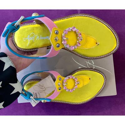 Leather Multi Coloured Sandal
