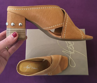 Tan Leather Mule