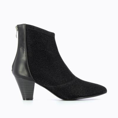 Black Sparkle Sock Boot