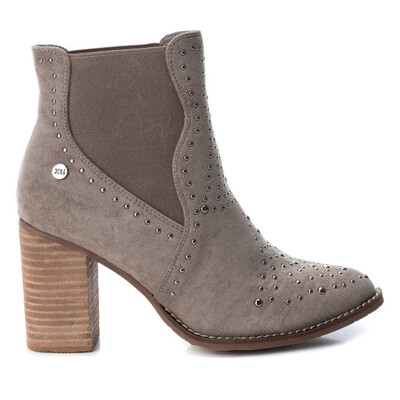 Grey Studded Ankle Boot