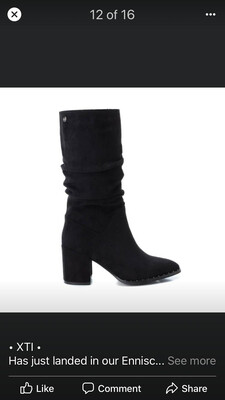 Black Suede Boot With Detail
