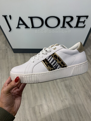 White Comb Trainer With Leopard Detail