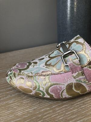 Rose Gold Multi Color Slip On Shoe