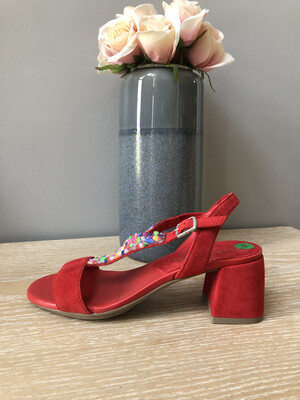 Ruby Slingback Multi Colour Stone Detail