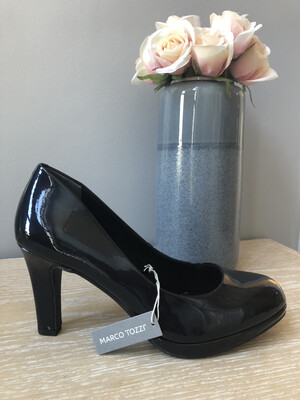 Navy Patent Court Shoe