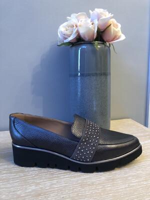 Marian - 32709 Grey Flatform Detailed Shoe