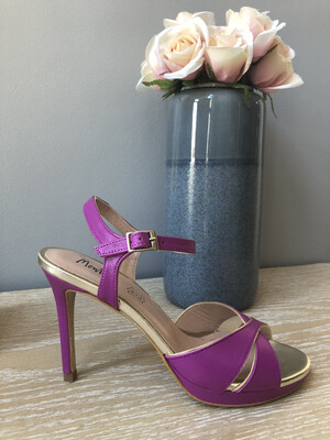 Purple Stiletto with Gold Detail