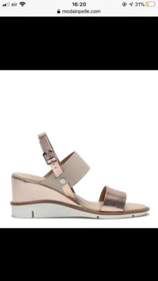 Nevva Rose Gold Leather Sandal