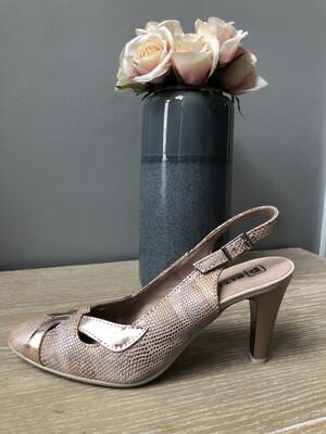 Rose Metallic Comfort Slingback Court
