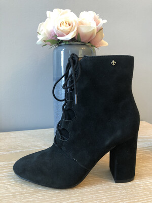Stardust Black Suede Laced Boot