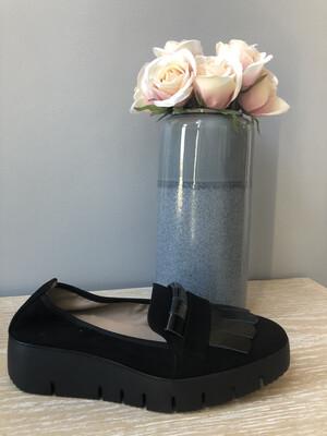 Casas Fringed Loafer Black