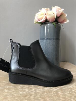 Grey Metallic Chelsea Boot