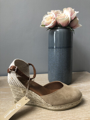 Nude Suede Wedge Espadrille 1731