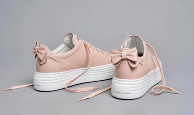 Blush on Blush Bow Trainer